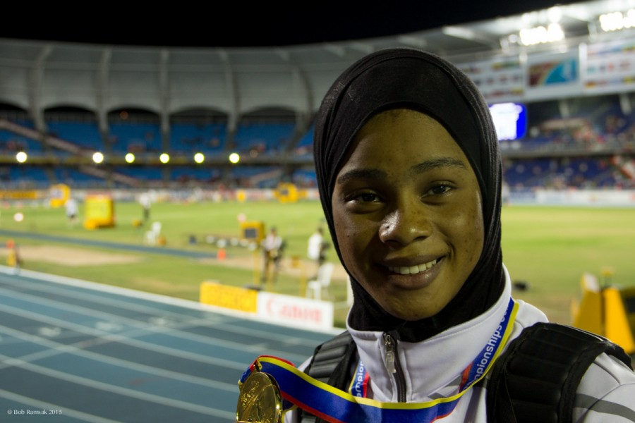 Salwa-Eid-Naser-of-Bahrain-at-the-World-Youth-Championships-in-Cali-e1437195891271